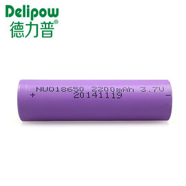 China Environmentally Friendly Rechargeable Battery Lithium , 3.7v 2200mah 18650 Lithium Battery  supplier
