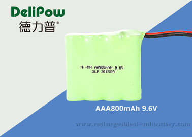 China Emergency Light NIMH Aaa Battery Packs Rechargeable 9.6V 800mAh supplier