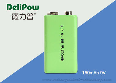 China Safety 150mAh 9v Nimh Rechargeable Battery For Multimeter Green Power supplier