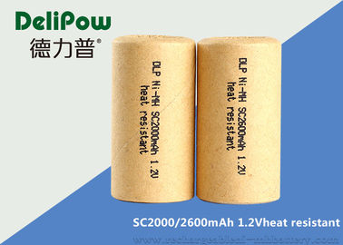 China Safety SC2600 1.2 V Nimh Rechargeable Batteries Low Self Discharge supplier