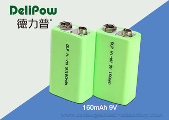 China Smart 160mAh Nimh 9v Rechargeable Battery 6F22 With UL / CE / ROHS  supplier