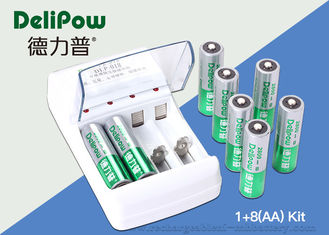 China Safety Rechargeable Battery Kit 8 AA2800mAh High Energy Density supplier