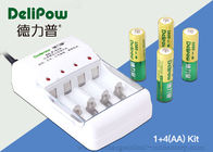 China Compact Design 1000mAh Rechargeable Battery Kit Nimh 4 AA Delipow factory