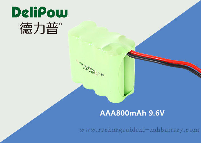 AAA 800mAh 96V NiMH Rechargeable Battery Pack UL CE Approved