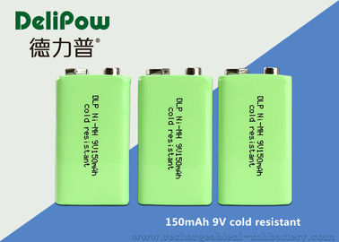 9V 150mAh Low Temperature Rechargeable Batteries 6F22 Size For Flashlight