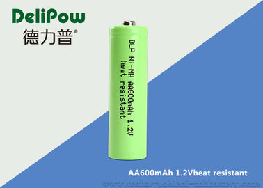 3 Years Cycle Life AA NIMH Rechargeable Battery 600mAh For Flashlight