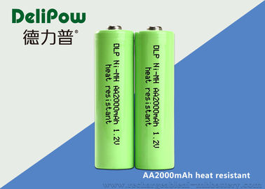 1.0v~1.2V 2000mAh Aa Rechargeable Batteries Nimh Heat Resistant