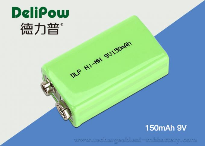 Safety 150mAh 9v Nimh Rechargeable Battery For Multimeter Green Power
