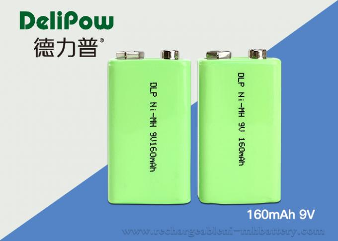 Smart 160mAh Nimh 9v Rechargeable Battery 6F22 With UL / CE / ROHS