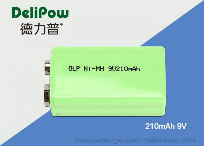 Environmental Industrial Rechargeable Battery 9v 210mAh For Bicycle Headlight