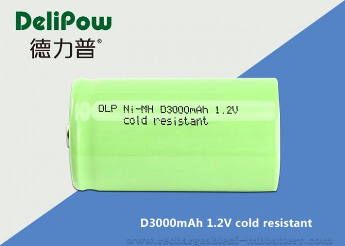ROHS / Iso Approved 1.2 V 3000mah D Rechargeable Battery For Cold Resistant